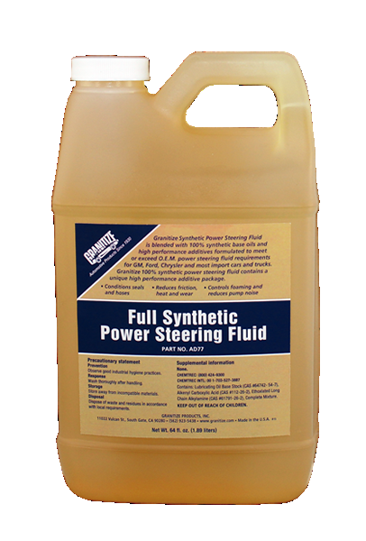 AD77 Synthetic Power Steering Fluid -Amber