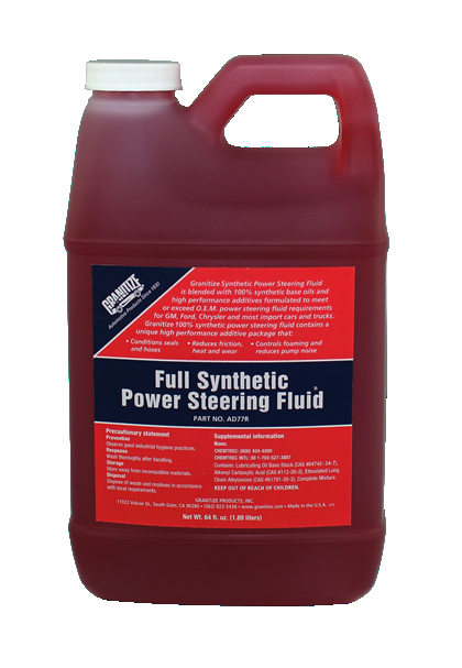 AD77R Synthetic Power Steering Fluid -Red